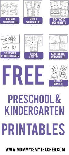 Wow! Look at all these free preschool theme printables for homeschool preschool. Definitely pinning this site!