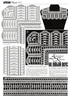 Russian edgings crochet