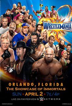 WWE Wrestlemania 33 Official Poster by Jahar145 on @DeviantArt