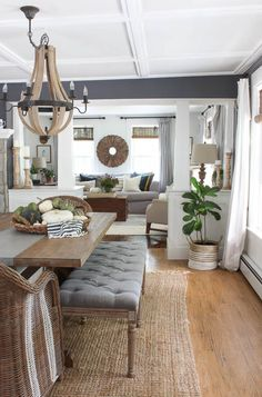New Darker Paint Color in the Dining Room Dining Room Paint Colors, Dining Room Walls, Dark Grey Dining Room, Dining Room Corner, Style At Home, Rooms For Rent, Home And Deco, Home Living Room, Formal Living Rooms