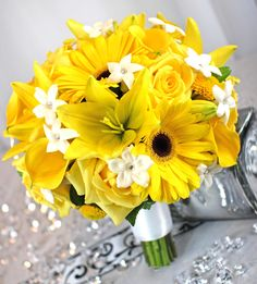 gerber daisy and lily wedding bouquets - Google Search