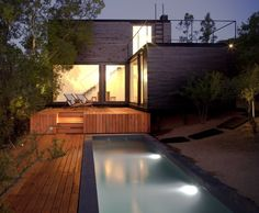 Stunning refuge situated in Casablanca, simply few miles away from Chile's capital, Santiago. This fascinating property was designed in 2011 by emA_Arquitectos. Description by emA_Arquitectos The home is. Architecture Résidentielle, Installation Architecture, Chile, Casa Patio, Backyard Patio, Bungalows, Exterior Design, Beautiful Homes, Building A House