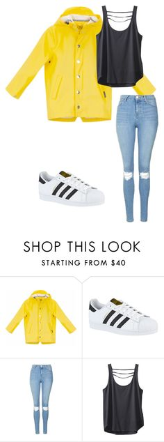 """Yellow Rain"" by megaspirit on Polyvore featuring adidas, Topshop and Kavu"