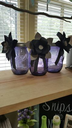 Check out this item in my Etsy shop https://www.etsy.com/listing/537680825/vintage-purple-ball-jars-with-paper