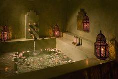 Tadelakt Shower - Mediterranean - mediterranean - bathroom - austin - by House+Earth Romantic Bathrooms, Dream Bathrooms, Beautiful Bathrooms, Serene Bathroom, Warm Bathroom, Bathroom Modern, Small Bathroom, Moroccan Bathroom, Bohemian Bathroom