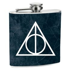 Deathly Hallows Flask 6 oz. Stainless Steel