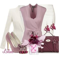 Pink and cream by leilani-almazan on Polyvore