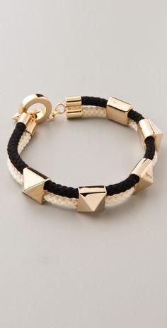 Noir for L. Pyramid Stations Bracelet / shopbop: my fav! Noir Jewelry, Jewelry Box, Jewelery, Jewelry Accessories, Fashion Accessories, Jewelry Making, Jewelry Ideas, Best Diamond, Lamb
