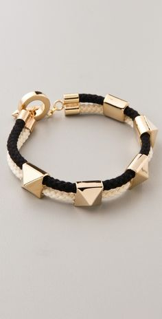 Noir for L.A.M.B. Pyramid Stations Bracelet / shopbop