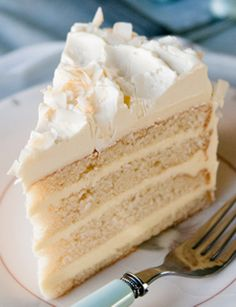 Coconut Cream Cake. I'm not a big coconut fan, but I have friends who are and this looks delicious!