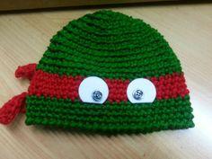 Teenage mutant ninja  turtles crochet hat - cuffia uncinetto tartaruga ninja