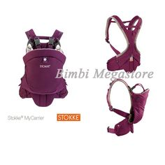 stokke my carrier marsupio purple 0mesi