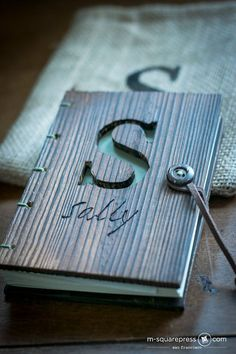 Personalized Pine Wooden Travel Journal