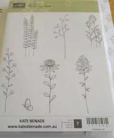 """Flowering Fields"" stamp set Kate Benade, Stampin' Up! Demonstrator Melbourne, Australia www.katebenade.com.au"