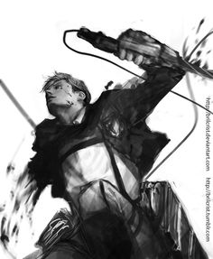 Attack on Titan ~~ Sacrifice is not limited to the enlisted ranks :: [ Erwin Smith Shingeki no Kyojin Attack on Titan by brilcrist.deviantart.com on @deviantART ]