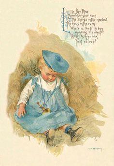 Little Boy Blue illustration, by Maud Humphrey Bogart