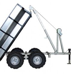 Woodland Open ATV Dump Box Trailer from Woodland Mills Atv Dump Trailer, Atv Utility Trailer, Work Trailer, Trailer Diy, Trailer Plans, Hauling Trailers, Camper Trailers, Atv Implements, Atv Gear