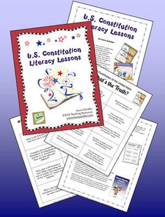 Constitution Day Literacy Lessons Free literacy lessons for teaching about the U S ConstitutionFree literacy lessons for teaching about the U S Constitution 3rd Grade Social Studies, Social Studies Classroom, Social Studies Resources, Teaching Social Studies, Teaching History, Teaching Resources, Teaching Ideas, Pre Reading Activities, Teaching Reading