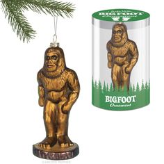 Bigfoot Ornament--perfect for hiding amid the evergreen branches, available from www.mcphee.com