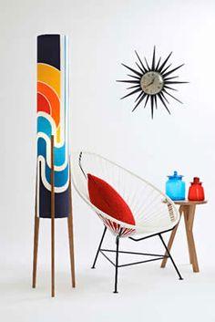 Retro Print Revival - rocket lamp