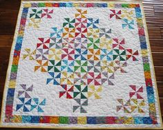 Pinwheel for Baby Quilt