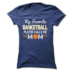 My favorite basketball player calls me mom - #student gift #gift amor. LIMITED AVAILABILITY => https://www.sunfrog.com/Sports/My-favorite-basketball-player-calls-me-mom-Ladies.html?68278
