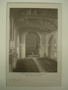 Interior of the Redeemer Presbyterian Church , Detroit, MI, 1926, George D. Mason & Co.