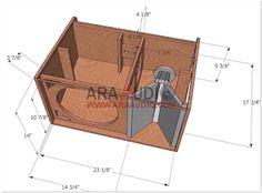 Skema Box 12 inch + Tweeter - ARA AUDIO Subwoofer Box Design, Speaker Box Design, Woofer Speaker, Speakers, Speaker Plans, Loudspeaker, Planer, Audio, How To Plan