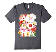 Large Floral Flower Aloha Hawaii T-Shirt Hawaiian Ice, Aloha Hawaii, Floral Flowers, Branded T Shirts, American Apparel, Rustic Wedding, Fashion Brands, Shave Ice, Floral Prints