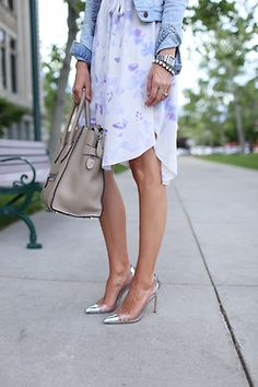 shirt dress + cap toe heels