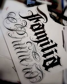 Tattoo Lettering Design, Graffiti Lettering, Family Tattoo Designs, Family Tattoos, Graffiti Alphabet Styles, Tattoos For Guys Badass, Letras Tattoo, Monster Tattoo, Hand Lettering Alphabet
