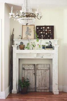No Mantel?  No Problem!  25+ Ideas for Fireplace Mantel Alternatives