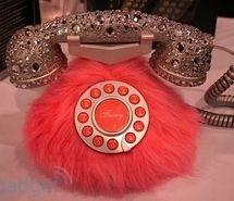 fur sparkle telephone- Great for the bathroom