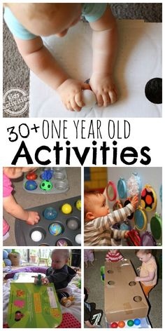 1 year old activities to keep baby playing.