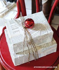Cómo envolver un libro: ideas