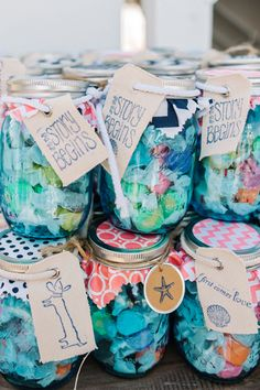 salt water taffy favors in mason jars | Dear Wesleyann