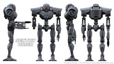 """I love this design for an Imperial Sentry Droid (sometimes referred to by Ezra Bridger as """"assassin droids."""") Big, intimidating, with some vaguely """"Vaderesque"""" design elements,they are&..."""