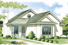 Houseplans.com Mediterranean Front Elevation Plan #45-101