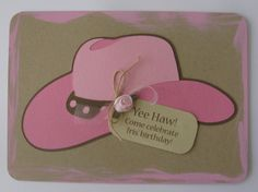 Cowgirl Birthday Invitation by cmariedesigns on Etsy, $3.00