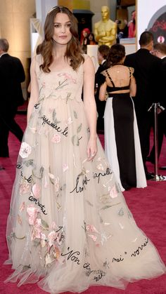 February | Keira Knightley wears Valentino Couture to the 87th Annual Academy Awards on February 22, 2015. via @stylelist