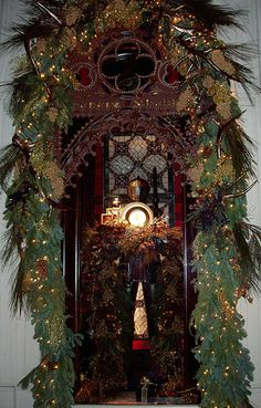 2007 Christmas windows designed for the Ralph Lauren flagship store, Rhinelander Mansion, NYC, Madison Avenue and East 72nd Street.  My design studio designed and decorated the Pinecone Prosceniums.
