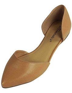 Breckelles Women's Faux Leather D'Orsay Pointed Toe Flats Natural 8.5 - http://all-shoes-online.com/breckelles/8-5-b-m-us-breckelles-dolley-21-ballet-ballet-flats-4