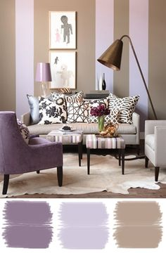 Love the paint color and stripes. So soothing.