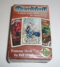 Deadfall Card Game Bluffing Fun Fantasy Desk Pairs Pairing Knight Goblin Scarab #HipPocketGames