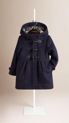 082425a5ec03a Duffle-coat en laine à jupe Marine Véritable