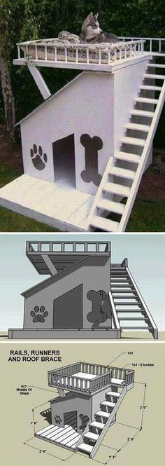 DIY Craft Project: Build A Dog House With A Roof Top Deck