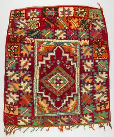 Africa | Rug from Rabat in Morocco | ca. mid 20th century | Wool; knotted pile and fringed.