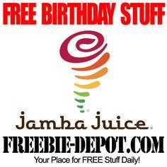 FREE BIRTHDAY STUFF - Jamba Juice - Birthday Freebie Smoothie - FREE BDay Juice  #freebirthday