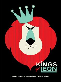 The Kings Of Leon Concert Poster By Vahalla Studios