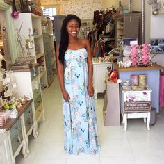 It might be raining but this blue chiffon maxi will brighten up any day :)